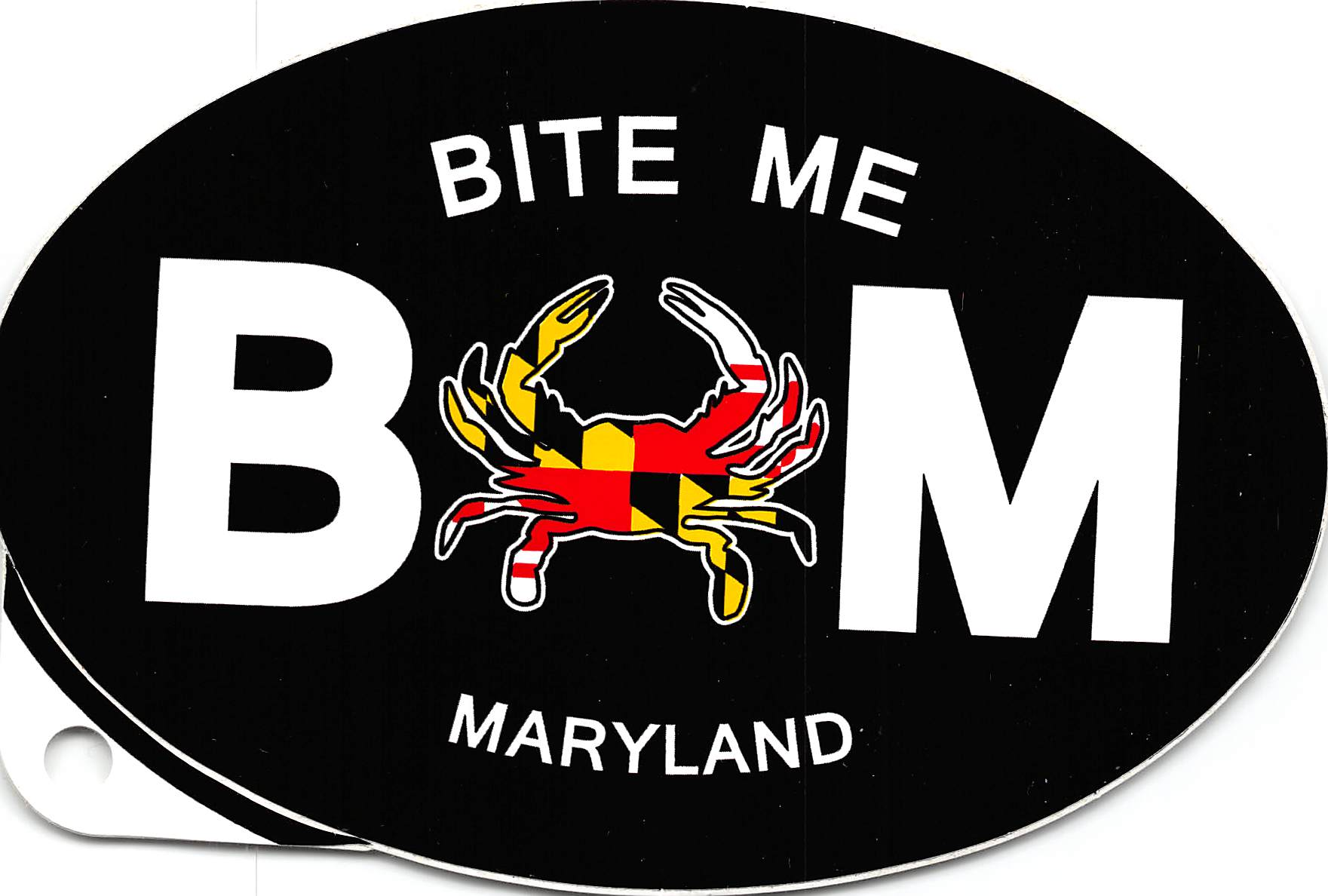 Maryland Bite Me Euro Sticker